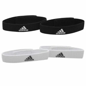 Adidas Football Sock Holders Straps Black or White One Size Adults Brand New