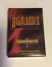 Highlander The Card Game CCG Swordmaster 125 Card lot + Pack, TV Show