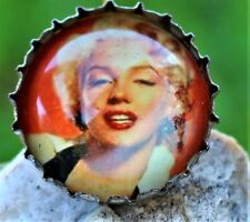 Marylin Monroe picture in buttle cup handmade BROOCH