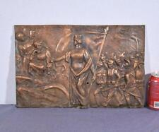 "*17"" Antique Bronze Sculpture/Plaque/Wall Hanging with WW1 Imagery"