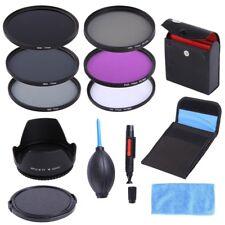 77mm UV CPL FLD ND 2 4 8 Filter Kit Lens Hood Cap For Canon EF-S 10-22/24-105mm