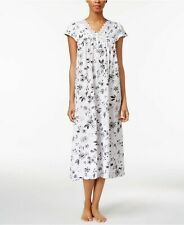 Charter Club Lace-Trimmed Cotton Knit Nightgown White Etched Toile X-Small