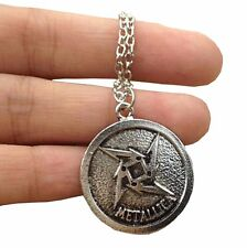 Metallica Necklace Pendant Solid Nickel Silver 2.4 cm with 50cm Chain