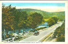 Ridgeway PA Auto Touring Greetings on State Highway to St Marys