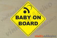 PEGATINA STICKER VINILO Bebe a bordo ref7 Baby on board autocollant aufkleber