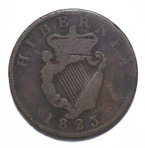 1823, Ireland, 1/2 Penny, George IV, VG, Copper, KM# 150, Lot [508]