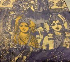 "Zazou Scarf Indian Women Faces Designs Scarf 21"" x 72"""