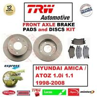 OEM SPEC FRONT DISCS AND PADS 234mm FOR HYUNDAI AMICA 1.1 2003-11