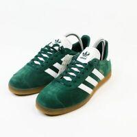 Adidas Originals Gazelle Green Leather Suede Casual Sneakers Men's size 7 DA8872