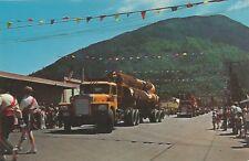 Washington State Blue Ribbon Load Of Logs Logger's Celebration Postcard 1950s