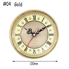65mm/190mm Quartz Clock Movement Insert Roman Numeral White Face Gold Trim Hot #04