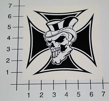 EISERNES KREUZ TOTENKOPF Aufkleber Sticker Iron Cross Skull OEM Tuning V8 Mi339