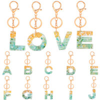 New 1PC 4.5*4cm A-Z Acrylic Keychains Bag Pendant Key Ring Accessories Gift