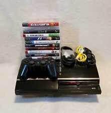 SONY PLAYSTATION 3 FAT 60GB CECHA01 BACKWARDS COMPATIBLE PS1, PS2  & 11 GAMES