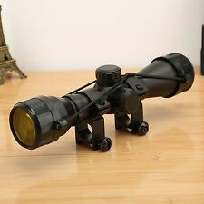 Hunting 4 x 32 Rifle Gun Scope Rangefinder Reticle Picatinny Weaver Rail Mount