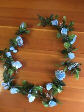 Rose Silk Garland Light Blue 5 ft long  Wedding/Shower Etc