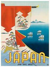 "Japan Travel Poster Art Print 12x16"" Rare Hot New XR367"