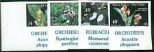 NATURE  ORCHIDS  FLOWERS : WALLIS et FUTUNA scott 283-286 IMPERF