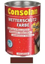 Consolan Wetterschutz-Farbe Braun 10 Liter NEUWARE Art. Nr. 5087481