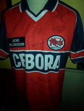 Salford City Reds Squad Signed Rugby Super League Shirt with COA