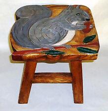 Footstools - Squirrel Wooden Footstool - Squirrel Foot Stool