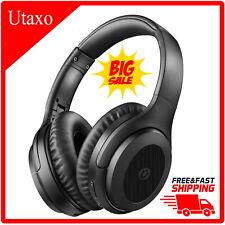 Utaxo Bluetooth 5.0 Active Noise Cancelling Headphones Hi-Fi Sound Deep Bass