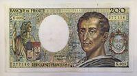 Billet De Banque 200 Francs Montesquieu De 1984 X.025 Voir Photos
