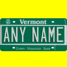 1/43-1/5 scale custom license plate set any brand RC/model car - Vermont tags