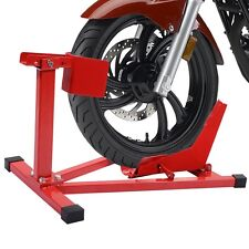 """Motorcycle Sport Bike Front Wheel Chock Lift Stand Fits 16""""-18"""" Tires"""