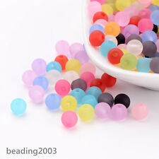 300 pcs Transparent Plastic Acrylic Ball Round Loose Beads 6mm Mixed Color