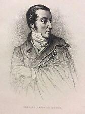 Carl Maria Weber (1786-1826) compositeur Musique gravure 1868  DEUTSCHLAND