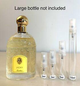 Guerlain JICKY Perfume EDP 2,3,5,10ml SAMPLE in Glass Travel Spray