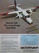 5/1981 PUB DORNIER 228 COMMUTER AIRCRAFT AVION PARIS AIRSHOW ORIGINAL AD