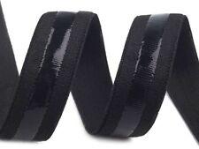 GUMMIBAND MIT SILIKON, ANTIRUTSCH, Trägergummi,Wäschegummi , schwarz,20 mm