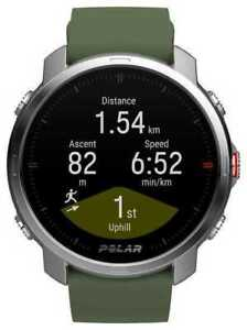 Polar Grit X GPS Multisport Watch - Green/Silver (M/L)