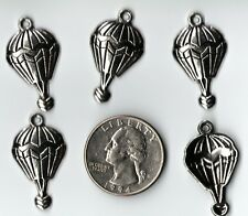YOU GET 15  METAL SILVER TONE HOT AIR BALLOON CHARMS.  U.S. SELLER  - L