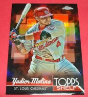 2014 TOPPS CHROME YADIER MOLINA TOPPS SHELF REFRACTOR CARD #TS-YM