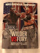 Deontay Wilder vs Tyson Fury Official Programme