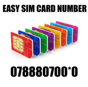 GOLD EASY VIP MEMORABLE MOBILE PHONE NUMBER DIAMOND PLATINUM SIMCARD 07888