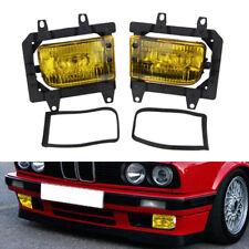 2X Left&Right Bumper Yellow Plastic Fog Light For BMW E30 318i 318is 325i 85-93