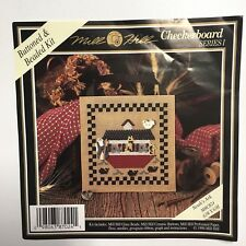 Mill Hill Buttoned Beaded Kit Checkerboard Series I Noahs Ark MHCB24 Perf Paper