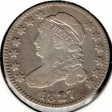 1827 Capped Bust Dime 10 Cent (Variety 4) - Choice VF