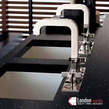 Black With Mirror | Kitchen Worktop | Quartz | Sample
