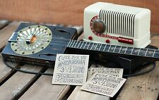 Cigar Box Americana~ 3 string guitar & Resonator Jukes cd Bottleneck slide