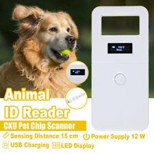 134.2KHz Accuracy Animal ID Reader OLED Display RFID Pet Scanner USB Microchip
