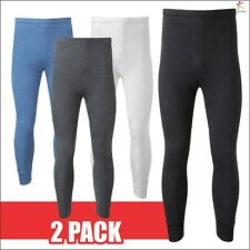 2 X MENS THERMAL UNDERWEAR LONG TROUSERS JOHNS WARM WINTER PANTS ALL SIZES UK