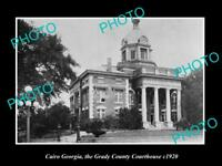 OLD LARGE HISTORIC PHOTO OF CAIRO GEORGIA, THE GRADY COUNTY COURT HOUSE c1920