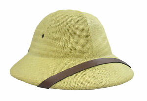 African Safari Sun Hat British Pith Helmet Hat Vietnam French Military Army Toyo