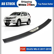 New Rear Bumper Step Protector Scuff Plate Guard Plate for ISUZU MU-X 2017-2018