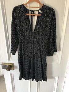 Billabong Black Spotty Beach Dress Size S